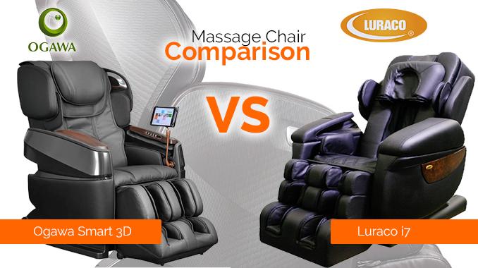 luraco i7 massage chair vs ogawa smart 3d massage chair comparison